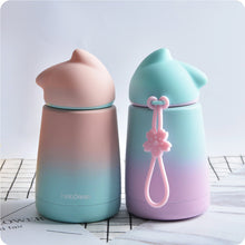Load image into Gallery viewer, Cute Kawaii Pastel Color Cat Neko Water Bottle - Best Kawaii Shop