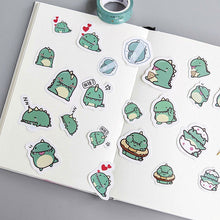 Load image into Gallery viewer, 40 Kawaii Dragon Midori Dinosaur, Hamster and Panda Stickers for DIY and Scrapbooking - Best Kawaii Shop