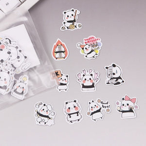 40 Kawaii Dragon Midori Dinosaur, Hamster and Panda Stickers for DIY and Scrapbooking - Best Kawaii Shop