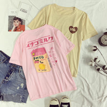 Load image into Gallery viewer, The Best Harajuku T-Shirt You Can Get - Peach Milk - Chocolate Milk - Best Kawaii Shop