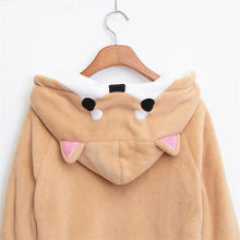 Load image into Gallery viewer, Kawaii Shiba Inu Doge Velvet Long- Sleeved Hoodie Plush Sweatshirt - Best Kawaii Shop
