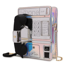 Load image into Gallery viewer, Harajuku Old Phone Laser Gradient Color Kawaii Lolita Shoulder Bag - Best Kawaii Shop