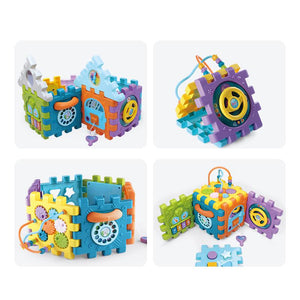 Baby learning blocks and shapes toy with sounds image 3