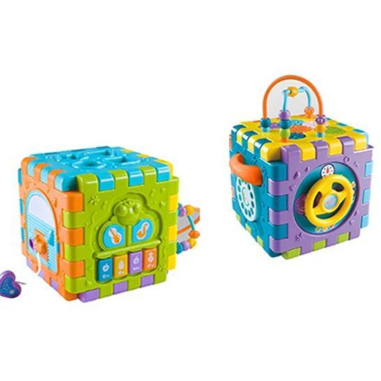 Baby learning blocks and shapes toy with music image 4