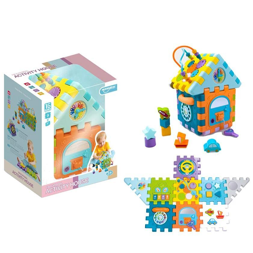 Baby learning colourful blocks and shapes toy with music image 6
