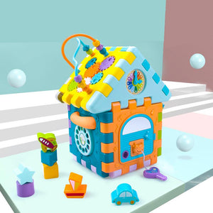 Baby learning house blocks and shapes toy with music image 5