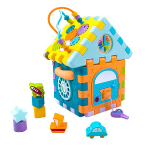 Baby learning blocks and shapes toy with music image 1