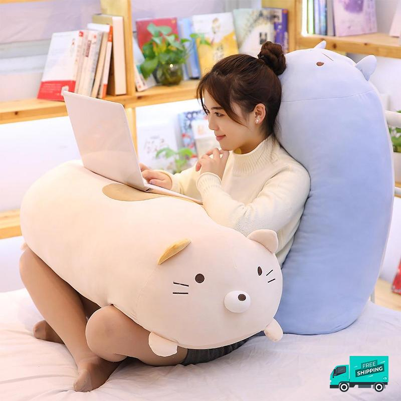 Animals Stuffed Soft Pillow backrest and lap
