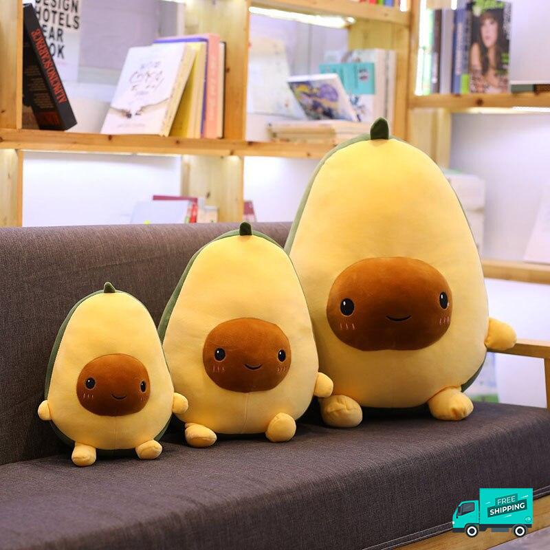 Avocado Soft Pillow Plush Toy 2 showing 3 different sizes