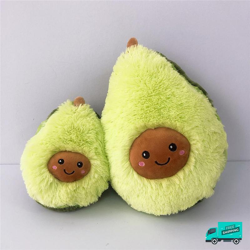 Avocado Soft Pillow Plush Toy showing 2 sizes