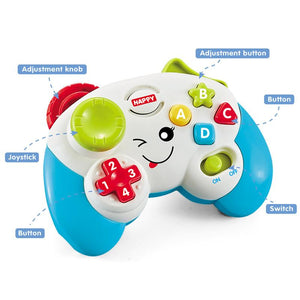 Learning baby game toy controller with lights and sound image 2