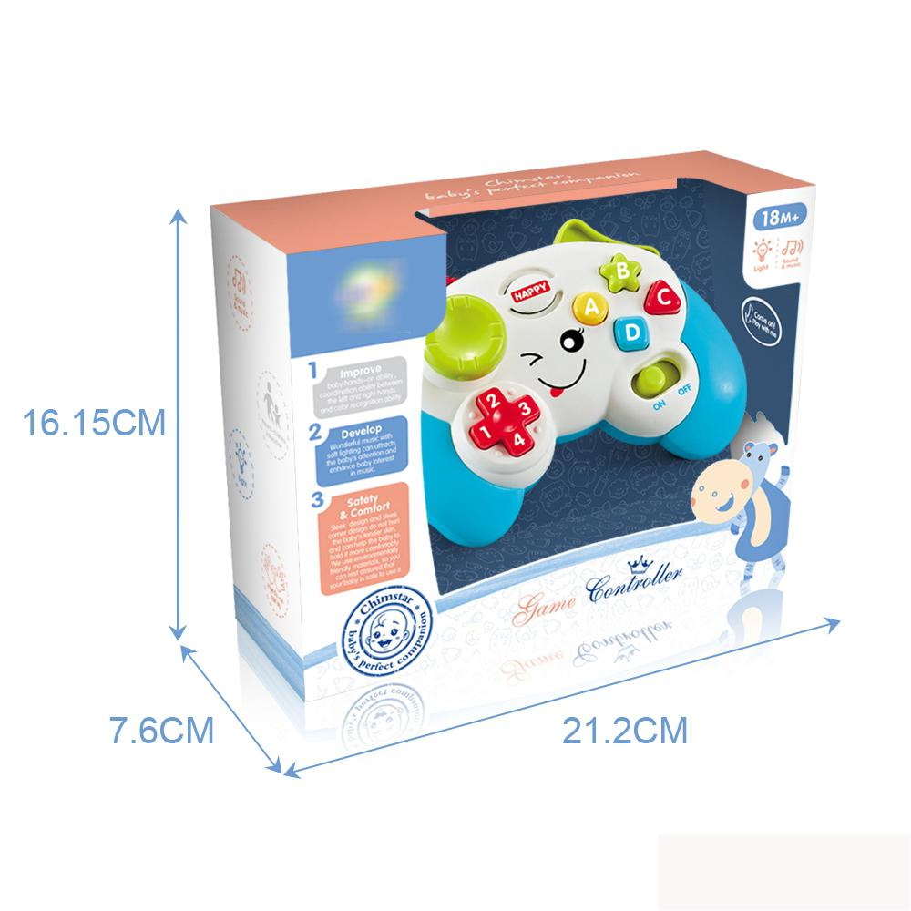 Educational baby game toy controller with lights and sound in box packaging image 5