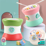 Baby colourful educational toy blocks with lights and music