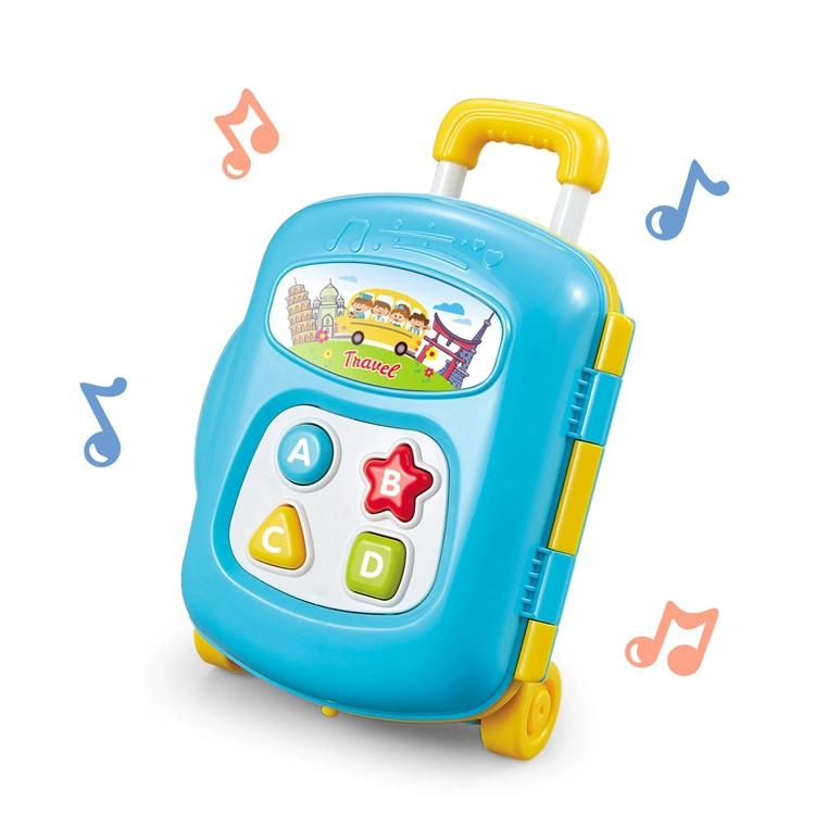 Educational baby luggage toy with music and sound blue colour