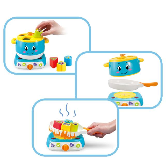 Learning baby stove learning blocks toy with lights and sound