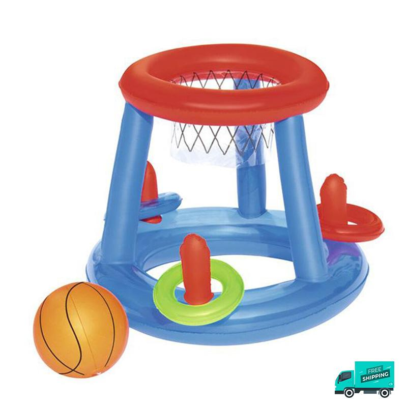 Basketball Hoop With Ring Toss My Toy Hub