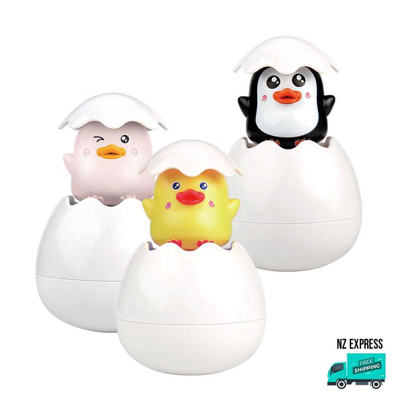 Animal bath egg toy water sprinklers and squirt