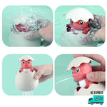 How to use the animal bath egg toy water sprinklers and squirt