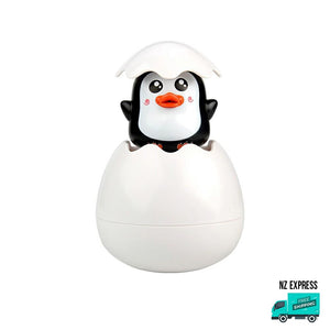 Penguin bath egg toy water sprinklers and squirt