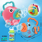 Battery operated fun bubble fish toy with handles in different colours available