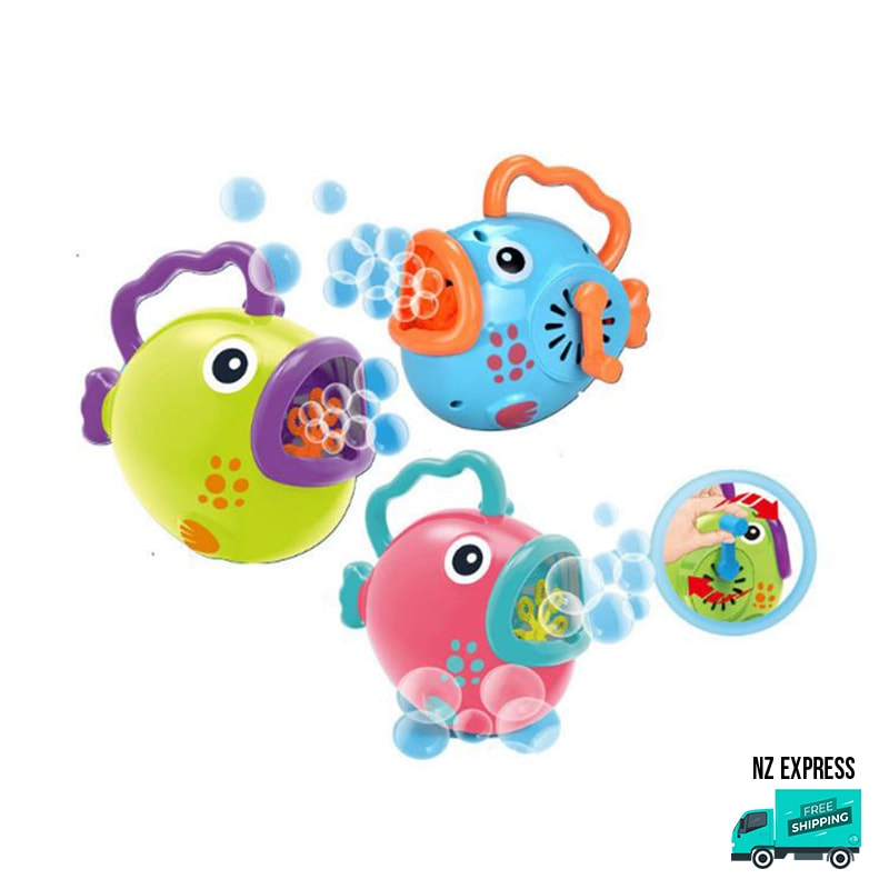 Battery operated fun bubble fish toy with handles
