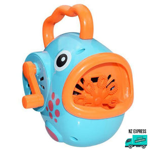 Battery operated fun blue bubble fish toy with handles