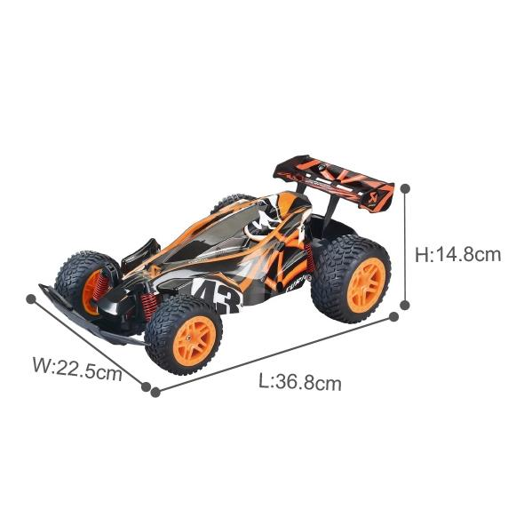Radio Controlled High quality RC racing car toy and fast speed showing dimensions