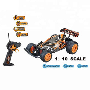 Radio Controlled High quality RC racing car toy and fast speed showing the details and specifications