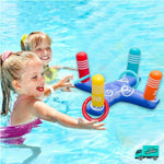 Cross Ring Toss Pool Toy My Toy Hub  kids playing at swimming pool