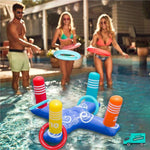 Cross Ring Toss Pool Toy My Toy Hub adults playing in swimming pool