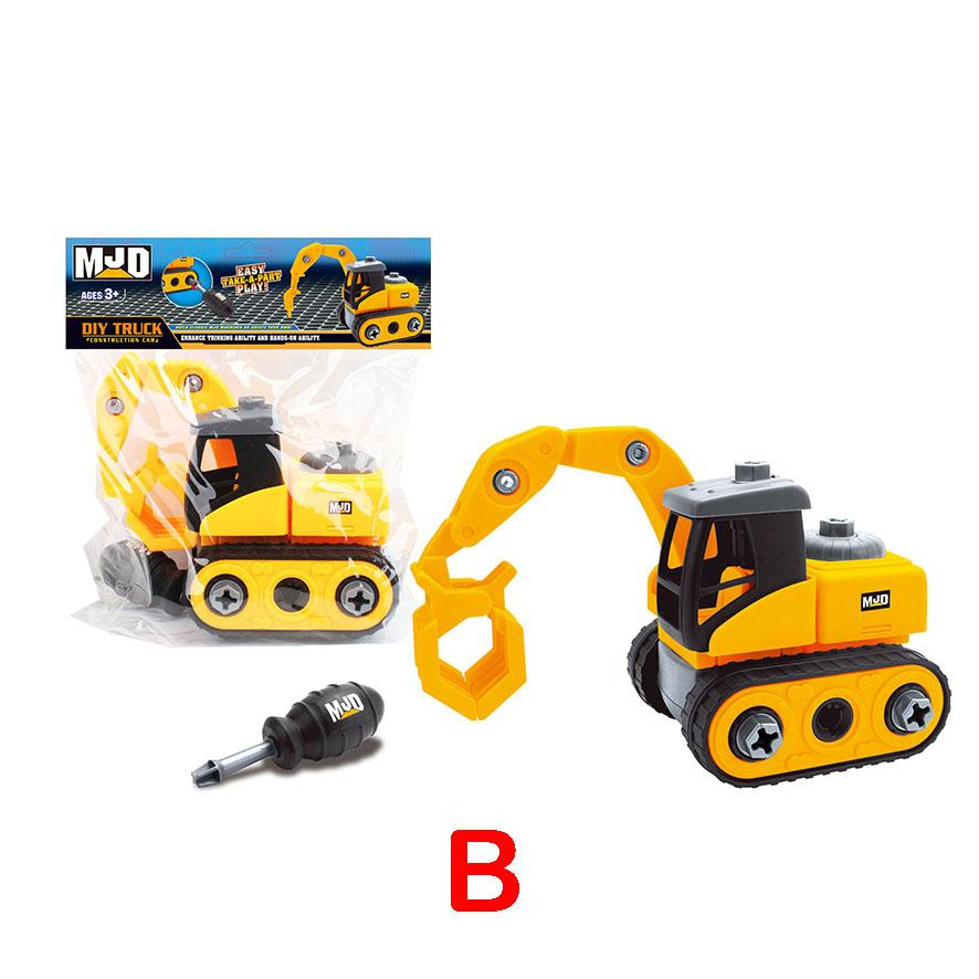 Crane - Assemble construction truck toys with plastic screws and screwdriver