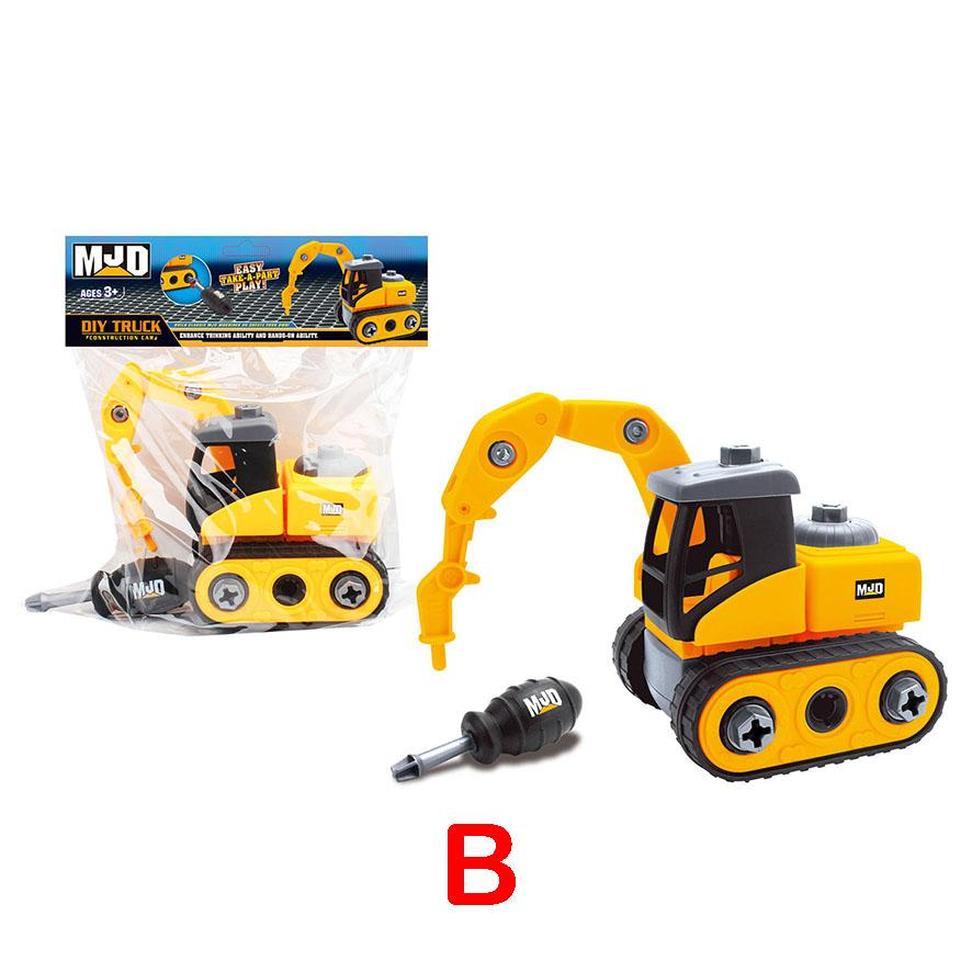 Digger Truck - Assemble construction truck toys with plastic screws and screwdriver
