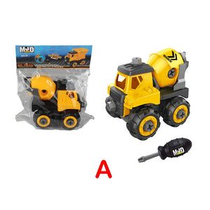 Mixer Truck type 2 - Assemble construction truck toys with plastic screws and screwdriver