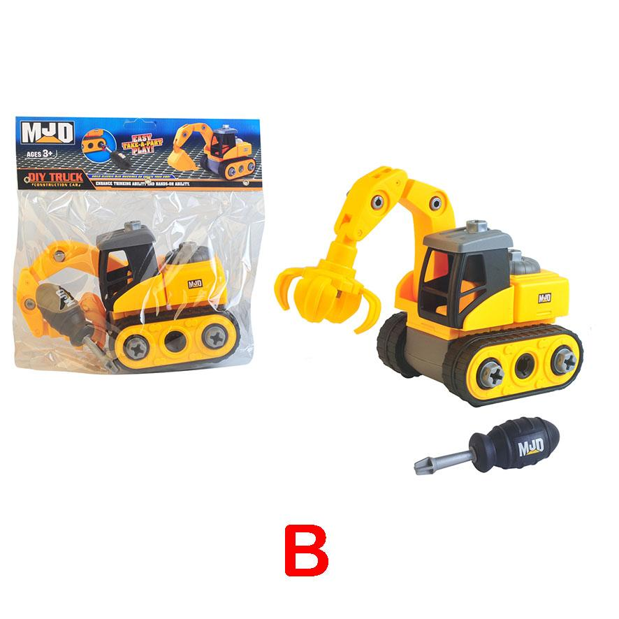 Assemble construction truck toys with plastic screws and screwdriver image 1