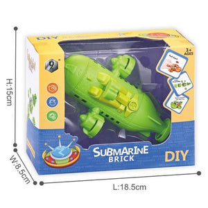 DIY Educational assemble submarine toys in green colour