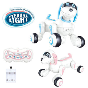 Radio Controlled RC fun dog robot toy with lights and sound