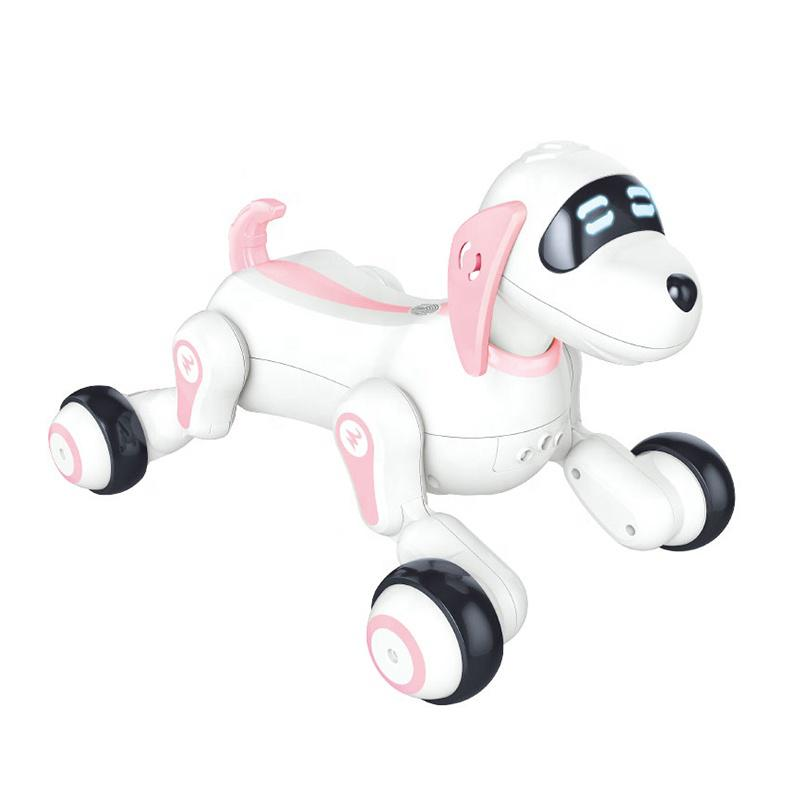 Radio Controlled RC fun dog pink robot toy with lights and sound