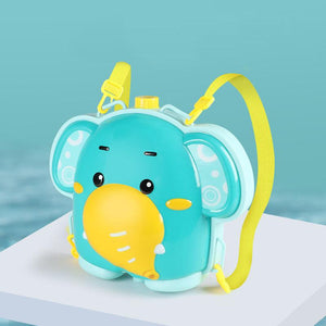 Elephant water gun fun toy backpack