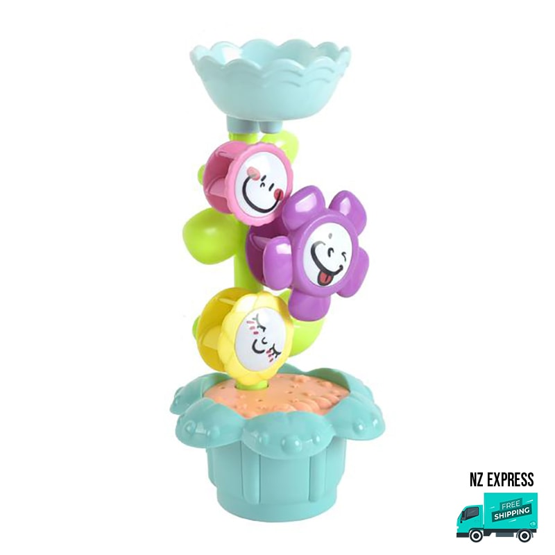 Flower water bath toy sprinkler