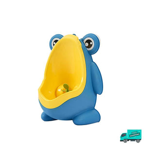 Frog toilet potty train urinal blue