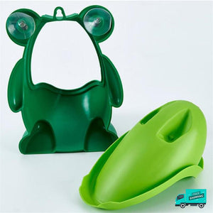 Frog toilet potty train urinal green with suction cups