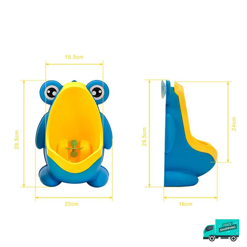 Frog toilet potty train urinal blue dimensions
