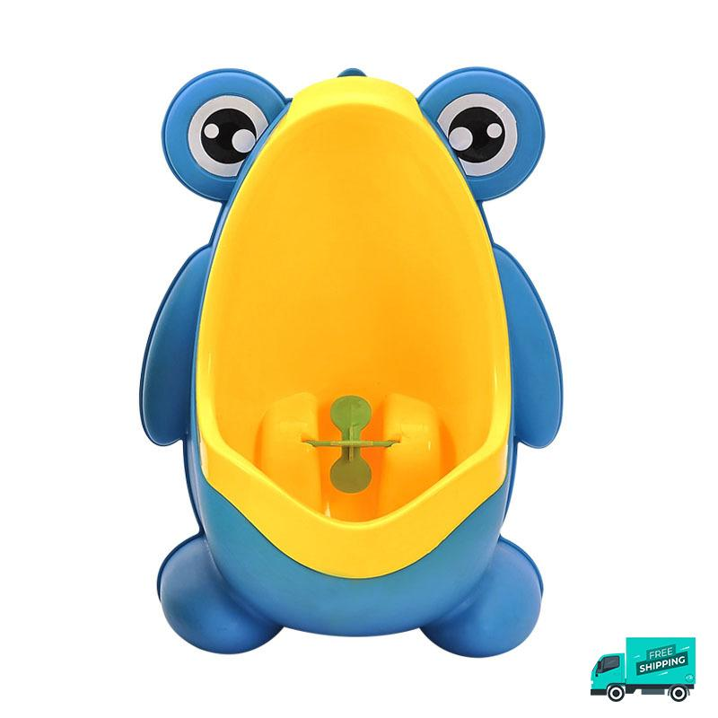 Frog toilet potty train urinal blue front
