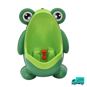 Frog toilet potty train urinal green