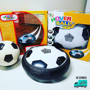 Fun indoor hover ball toy with lights in box packaging