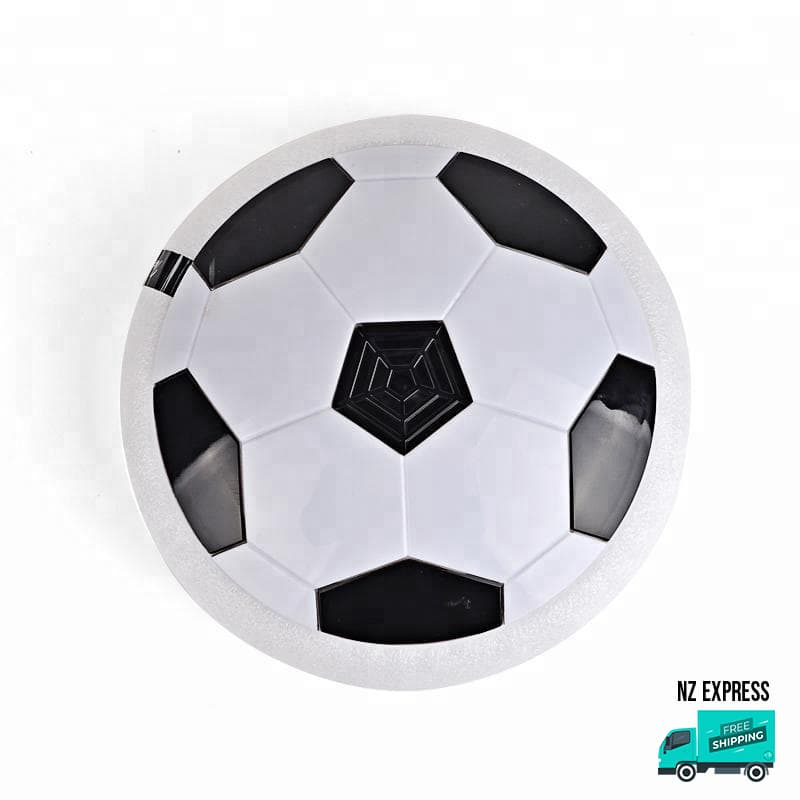 Fun indoor hover ball toy with lights in close-up detail