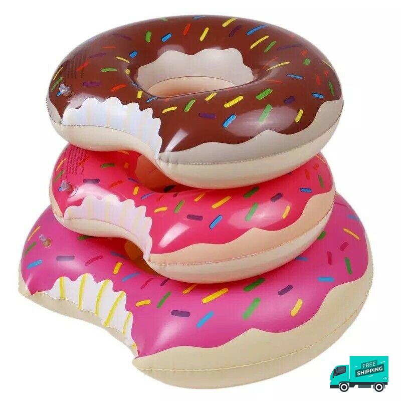 Inflatable Donut Swimming Ring My Toy Hub angle view