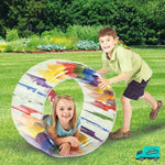 Inflatable Water Wheel My Toy Hub kids in the grass