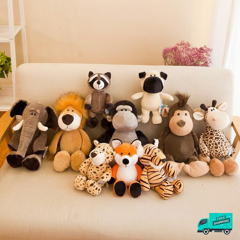 jungle animal soft toys full set