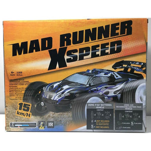 Radio Controlled RC racing car in a box front cover view